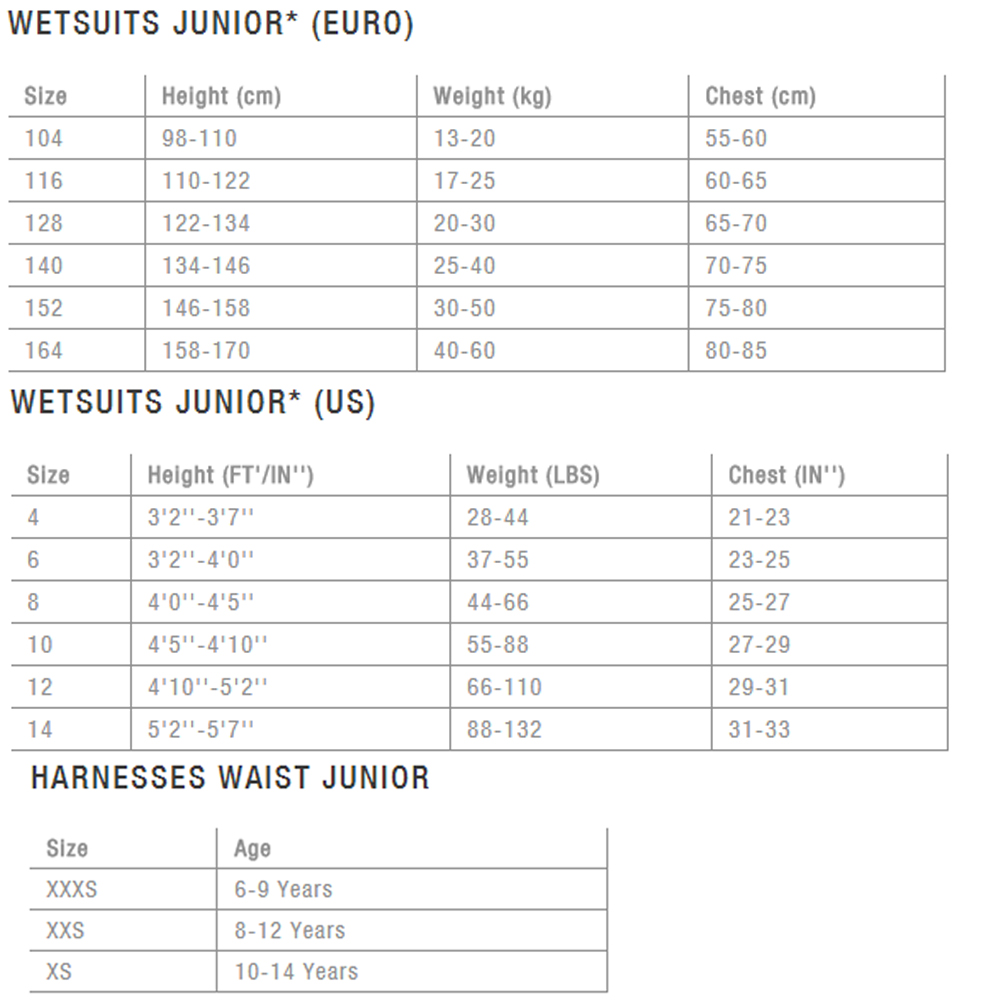 Sizing-Charts-ION-Wetsuits-Harnesses-Kids