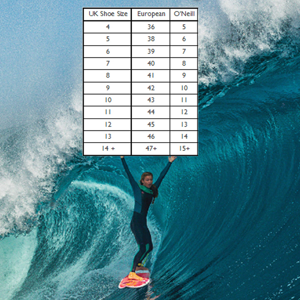 Oneill-Wetsuit-boots-size-chart-2019
