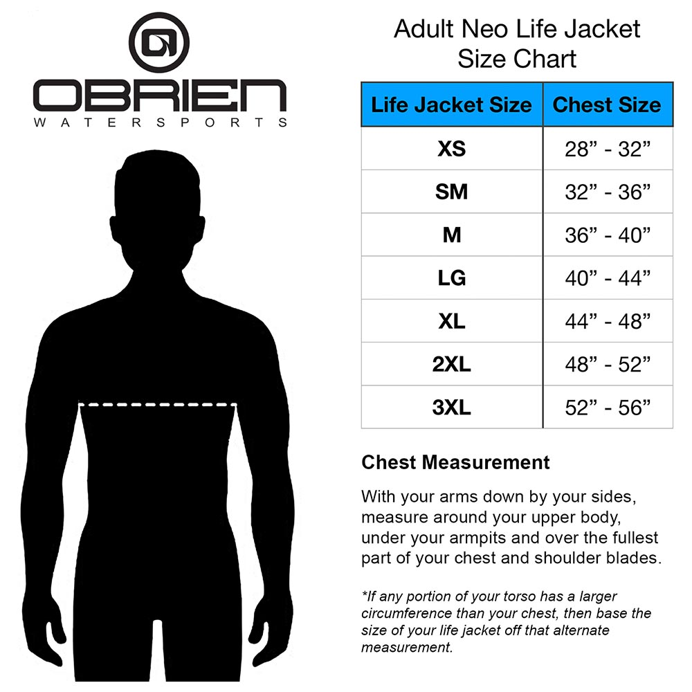 2021-OBrien-Vests_0030_Adult-Neo-Life-Jacket-Chart-with-Chest-Measurement